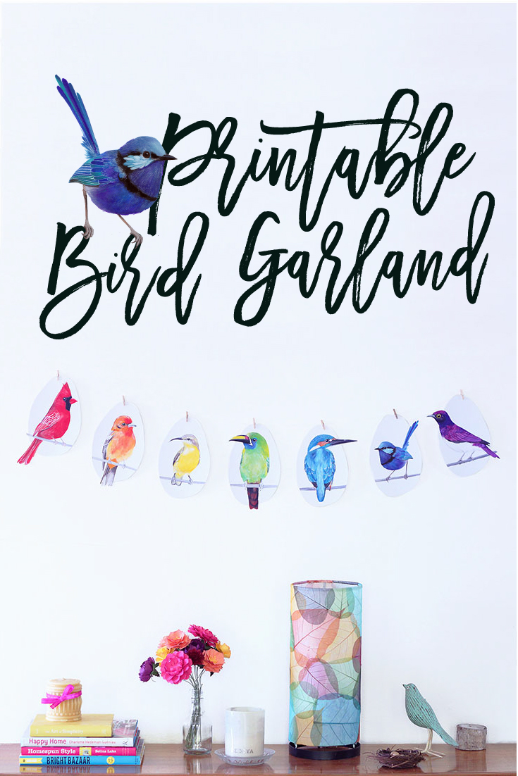 DIY Printable Bird Garland by PRINTSPIRING