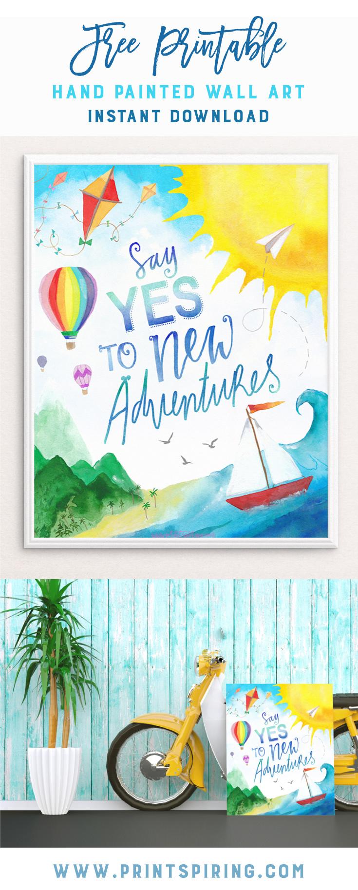 Adventures Free Printable